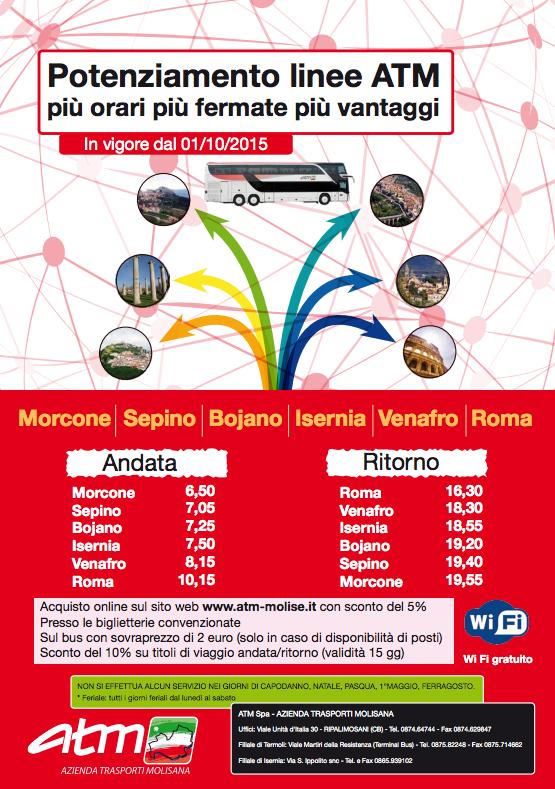 Orari linea Morcone Roma