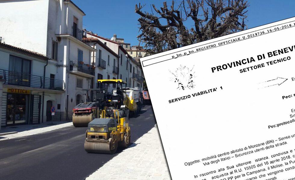Nuova mobilità nel centro abitato: la Provincia sollecita le modifiche necessarie