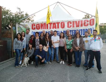 Rifiuti a Sassinoro, una rappresentanza dell'Amministrazione Comunale in visita il presidio
