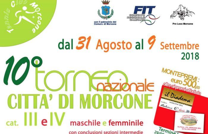 """X Torneo nazionale """"Città di Morcone"""", domani le finali"""