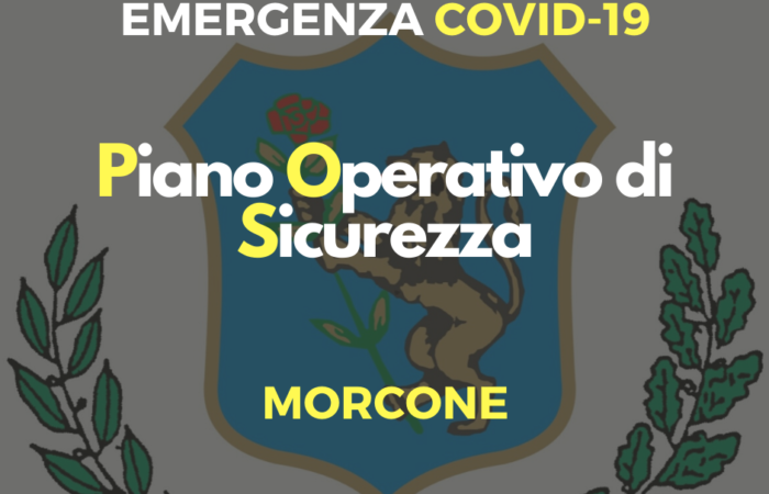 """Emergenza Coronavirus: disponibile il """"Piano Operativo di Sicurezza"""""""