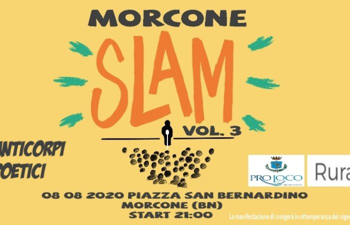 Morcone SLAM: il Vol.3 torna in Piazza San Bernardino